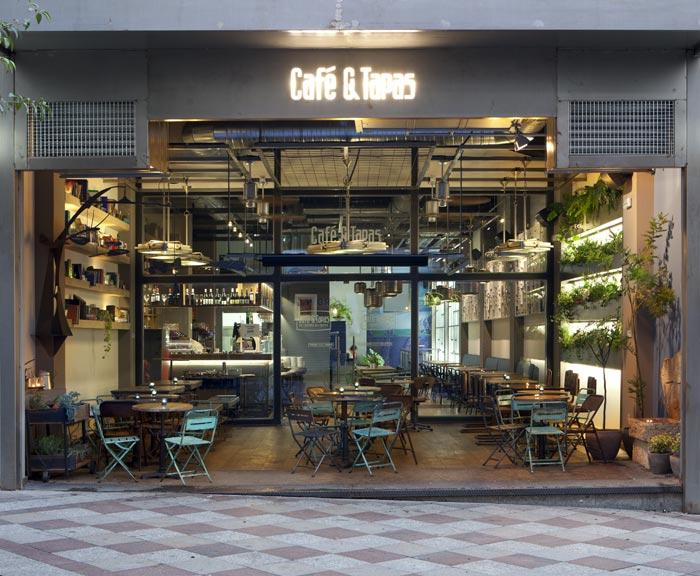 Proyecto de interiorismo de caf tapas calle montera cuca for Muebles para cafeteria vintage