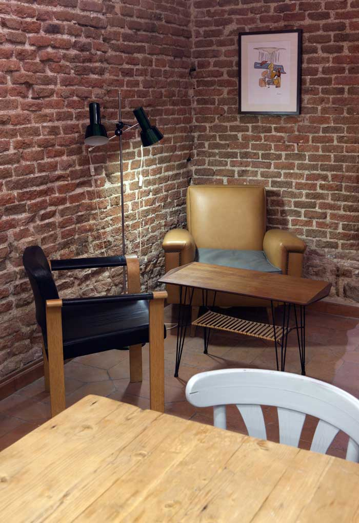 Imágenes del proyecto de interiorismo vintage para cafeterías en Cava Mayor