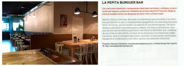Imágenes de la noticia del proyecto La Pepita Burguer Bar en Proyecto Contract