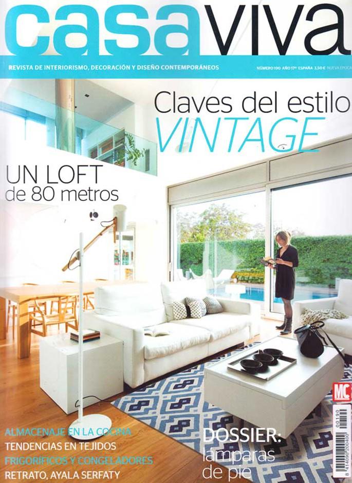 Imágenes del reportaje sobre el estilo vintage en la revista casa viva
