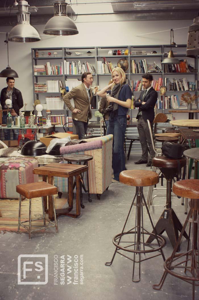 Imágenes de la visita al showroom de Francisco Segarra