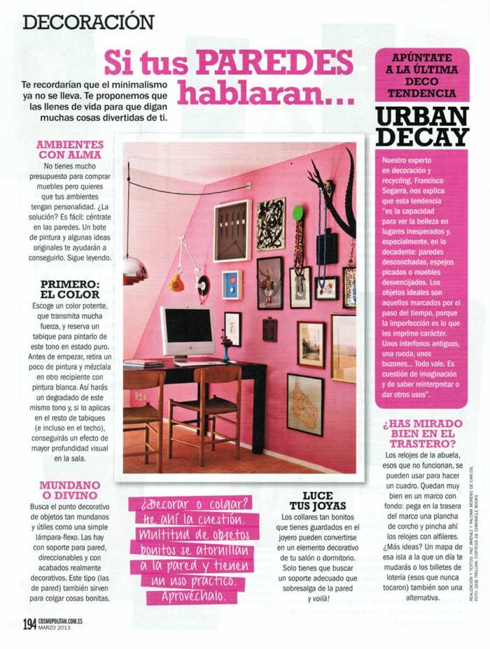 Imágenes de la noticia sobre decoración Urban Decay de Francisco Segarra
