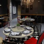 Imágenes del diseño e interiorismo vintage en el restaurante Las Cavas