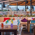 Imágenes de las mesas hostelería en la terraza Il Rosso Puerto