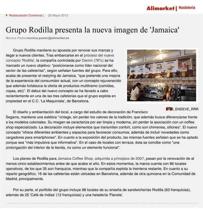 Imágenes de la noticia sobre Francisco Segarra en la publicación Alimarket