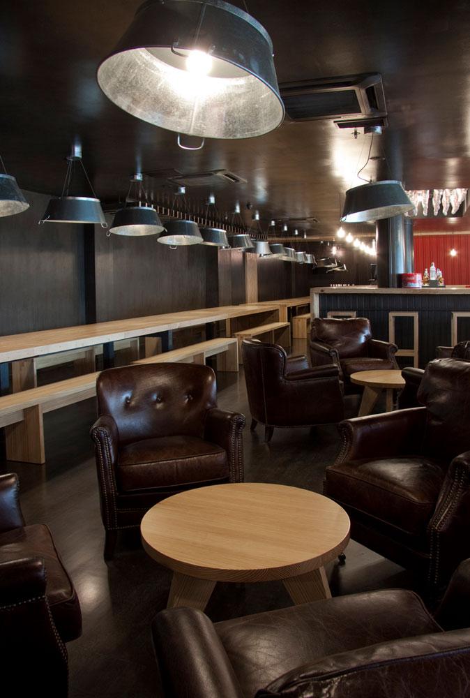 Imágenes de los sillones en piel para decoración de pubs y boleras