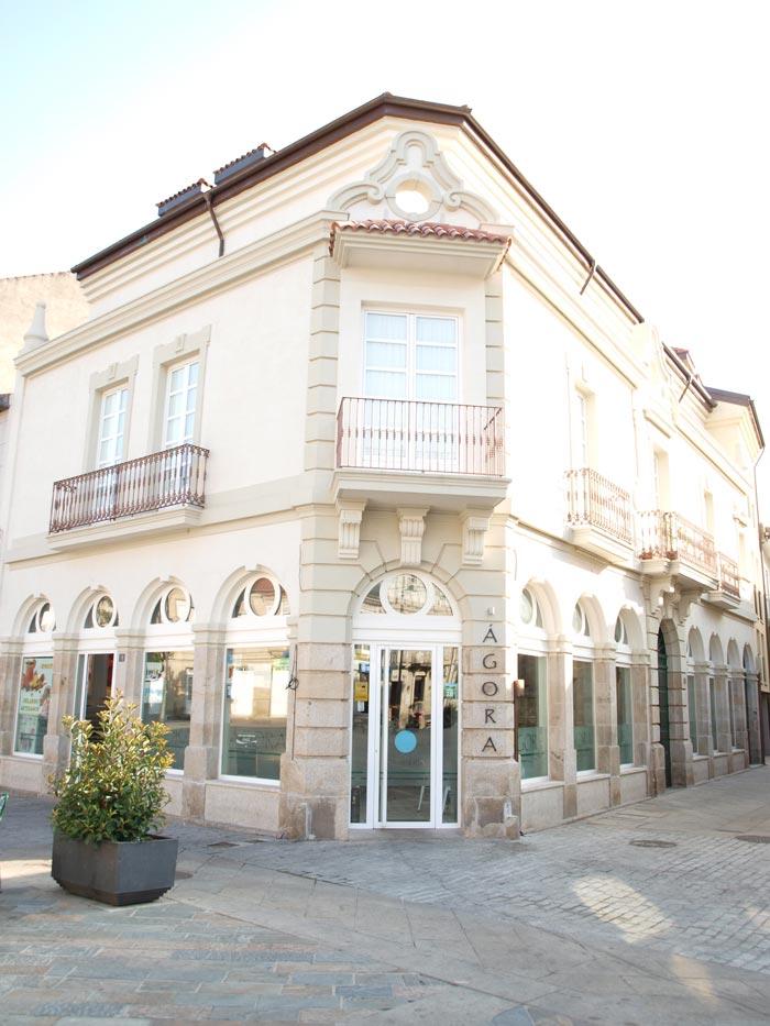 Fotos de la fachada de la pastelería Ágora