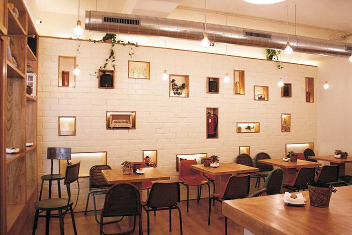Proyecto de interiorismo decoraci n cafeter a cinco sentidos for Decoracion cafeterias modernas