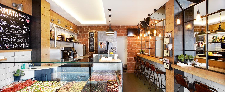 Muebles y art culos para decoraci n de pizzerias modernas for Muebles y decoracion