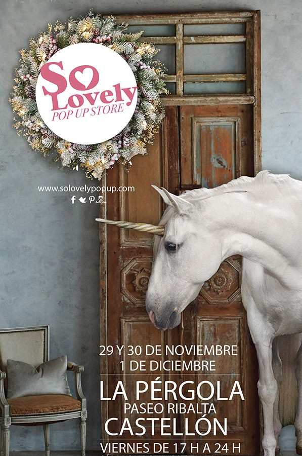 Foto del cartel del evento So Lovely Christmas Pop Up Store en Castellón.