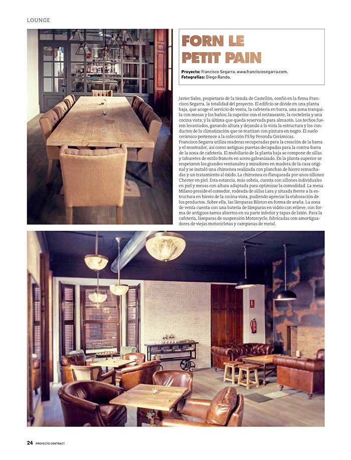 Imagenes de la decoración de la panadería Forn Le Petit Pain en Proyecto Contract.