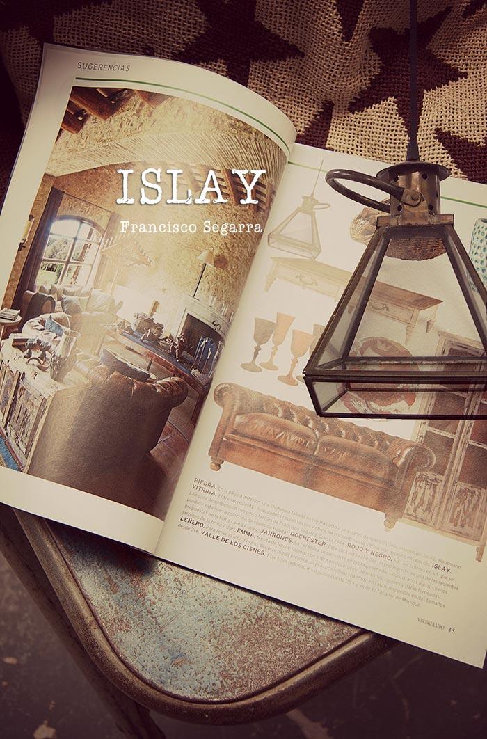 Imagen de la noticia sobre los complementos decoración vintage online. Lámparas Islay Francisco Segarra.