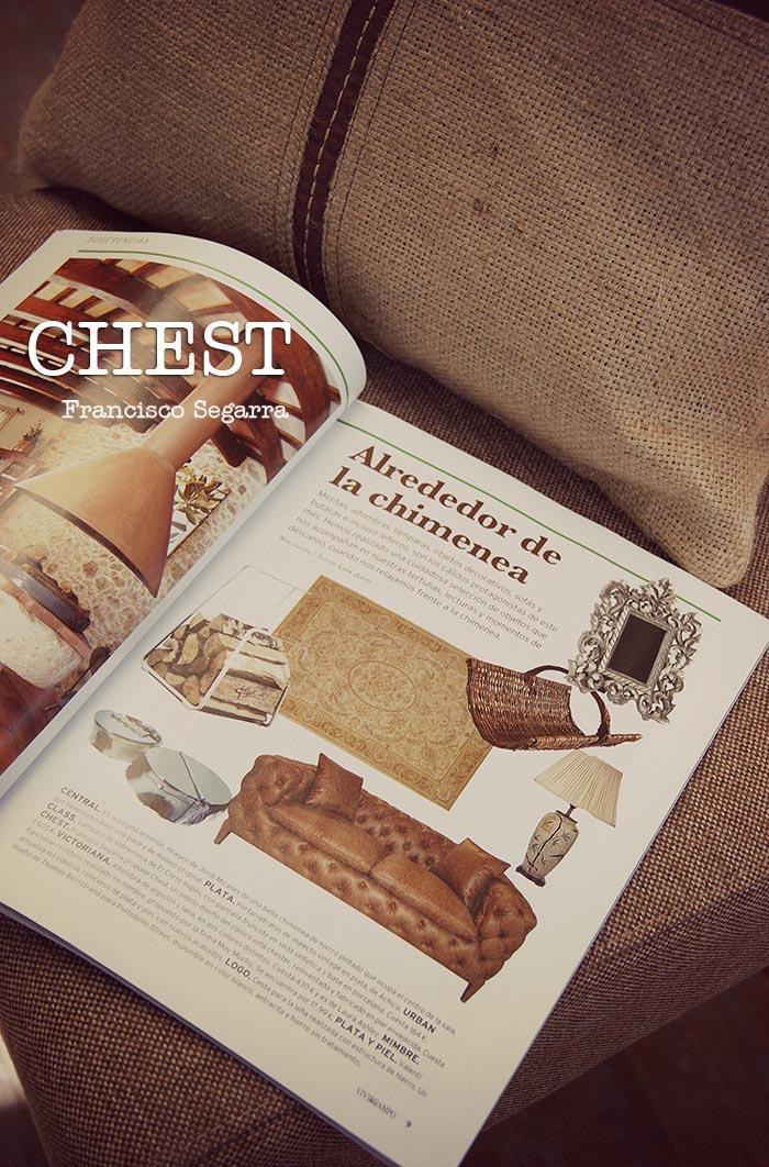 Imagen de la noticia sobre Complementos decoración vintage online. Sofás Chest Francisco Segarra.