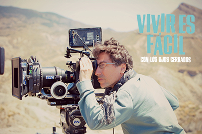 """Fotos del rodaje de David Trueba en """"Vivir es fácil con los ojos cerrados""""."""