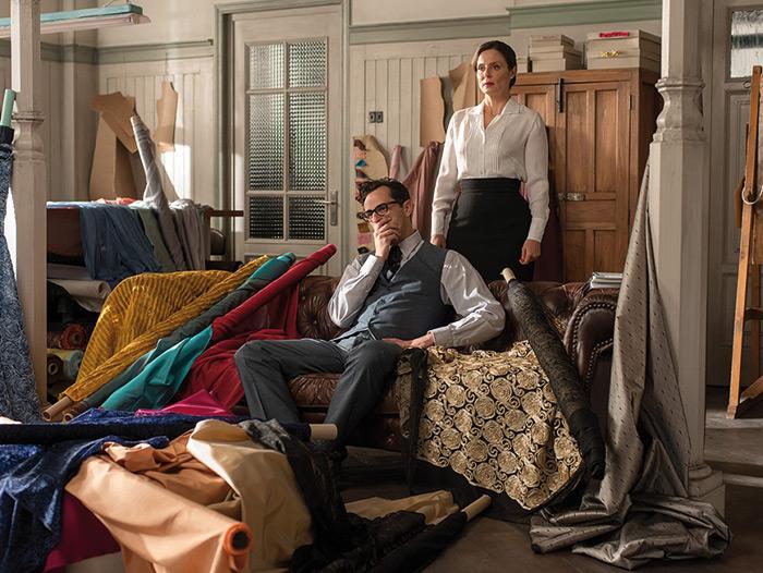 Imagen del mobiliario vintage para comercios en la serie Galerias Velvet.
