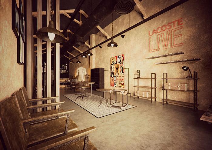 Imagen de los renders del proyecto de interiorismo comercial Simón Store.