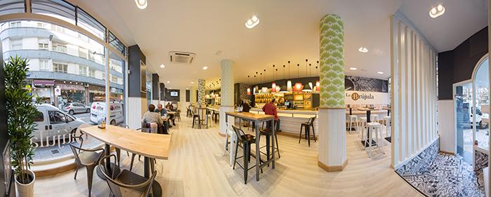 Imagen de proyecto de interiorismo y decoración para cafeterías.