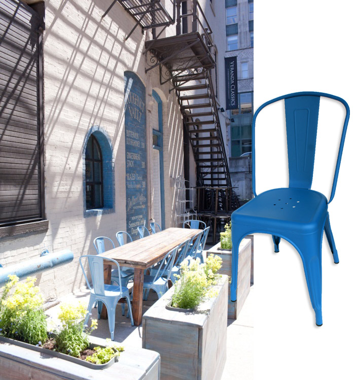 Imágenes de sillas de terraza para bares y restaurantes.