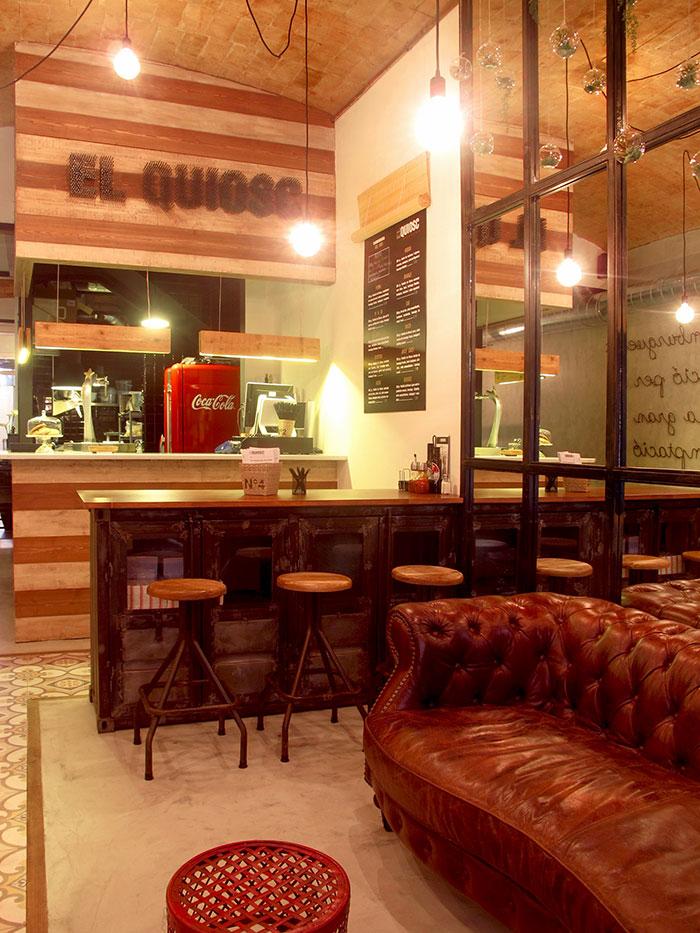 Proyectos de decoraci n retro industrial para restaurantes for Decoracion para bares rusticos