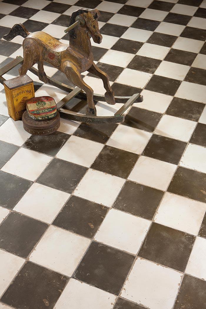 Fotos de los suelos vintage, FS Damero de la colección FS by Peronda Cerámicas.