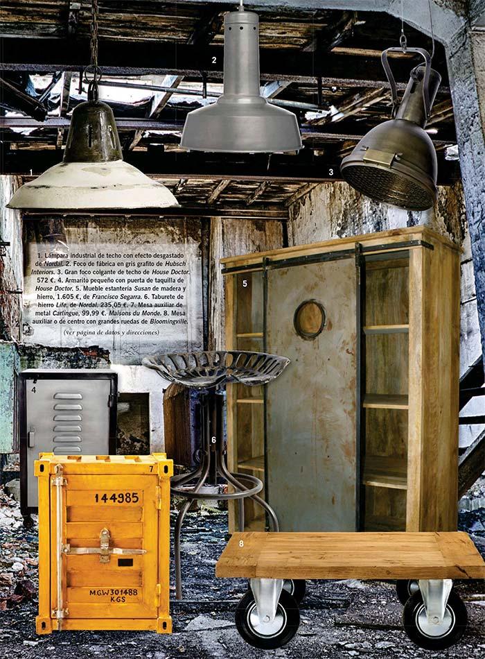Fotos. Estilo Factory. Mobiliario de estilo industrial.