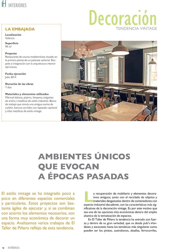 imágenes. tendencias en decoración vintage sector Horeca.