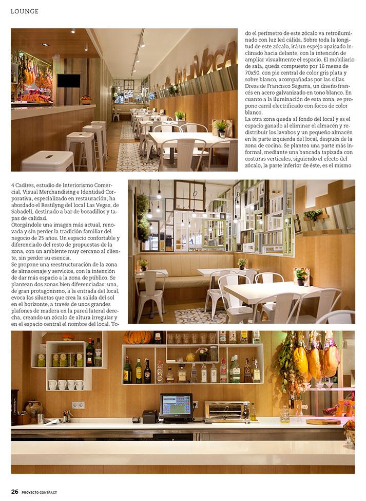 Fotos. Mobiliario de estética vintage en Proyecto Contract.