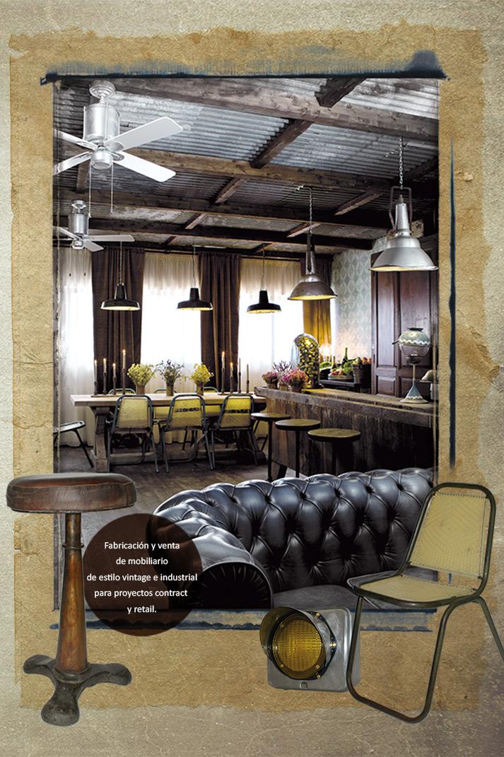 Fotos. Mobiliario para proyectos de interiorismo vintage