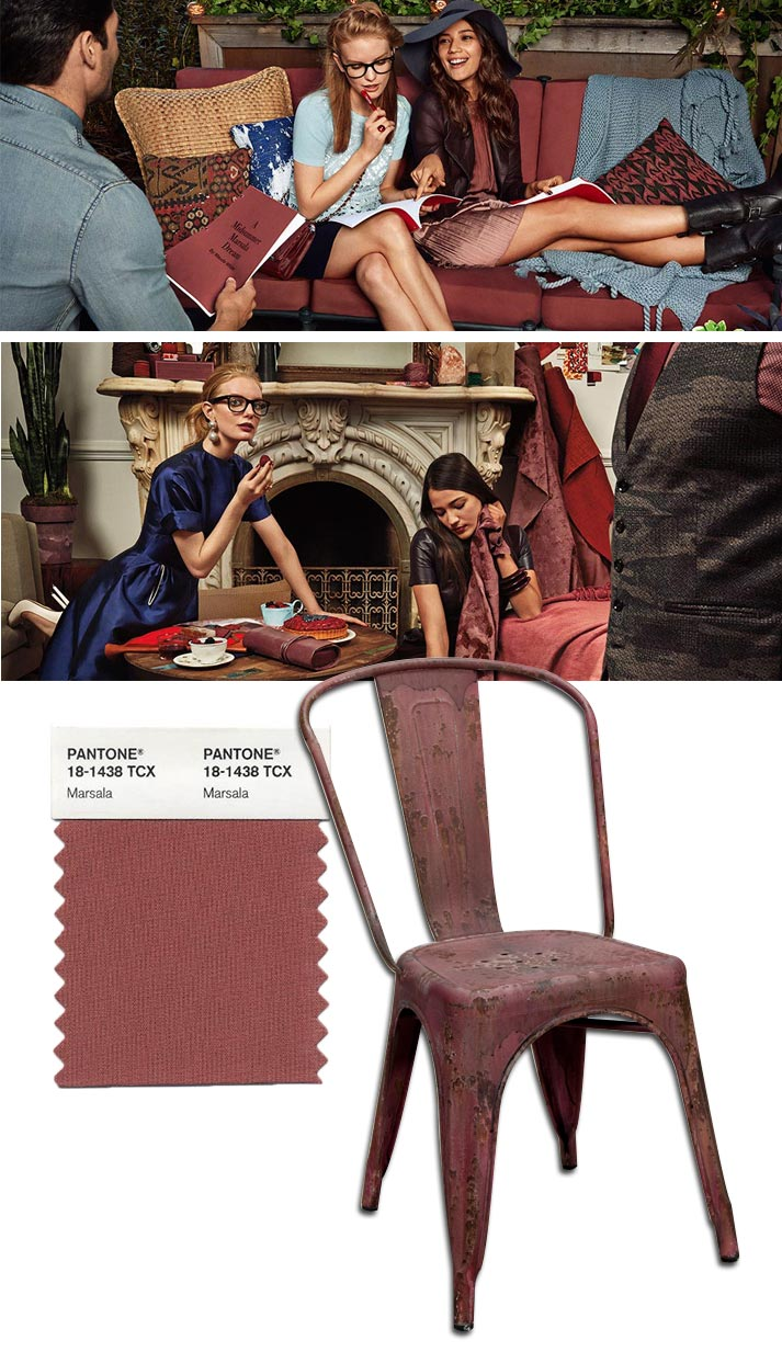 Fotos. Tendencias color Pantone 2015. Marsala.