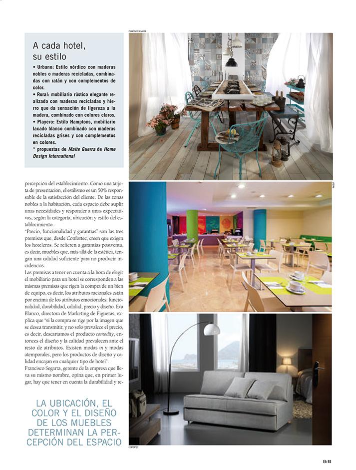 Fotos de la noticia sobre Equipamiento Hostelero. Mobiliario para hoteles.