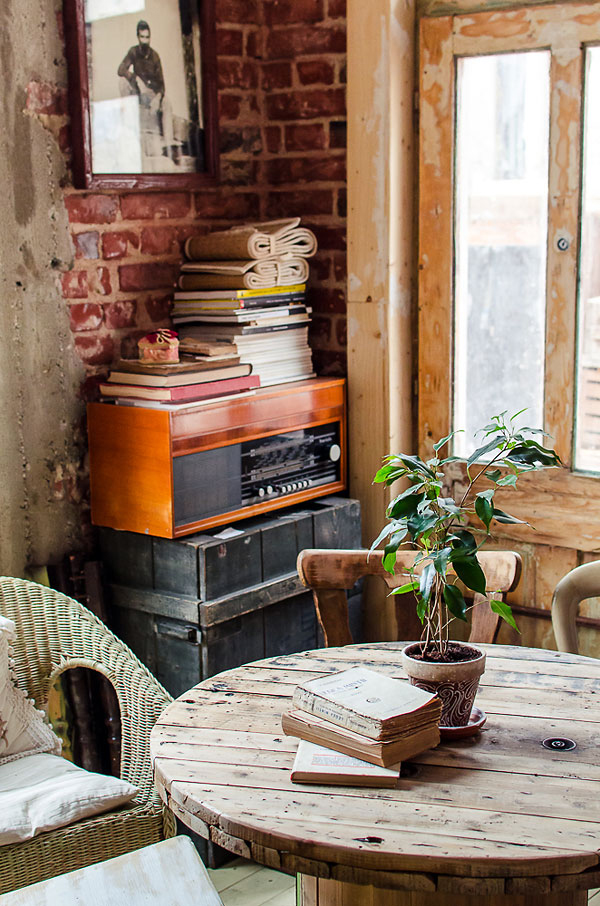 Fotos. Muebles para diseño interior para restaurantes estilo vintage.