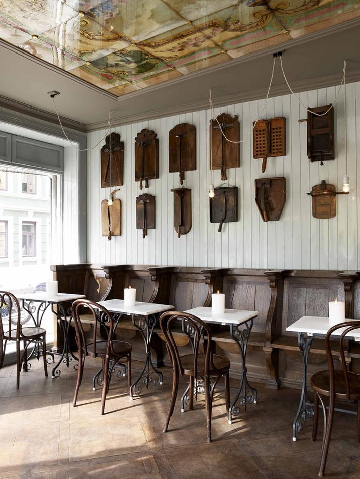 Imágenes del diseño de bares vintage.