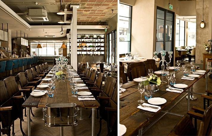 Noticias. Tipos de mesas para hostelería. Mesas comunales.