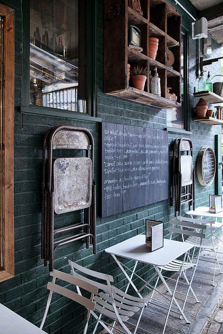 Muebles de terraza para cafeterías.