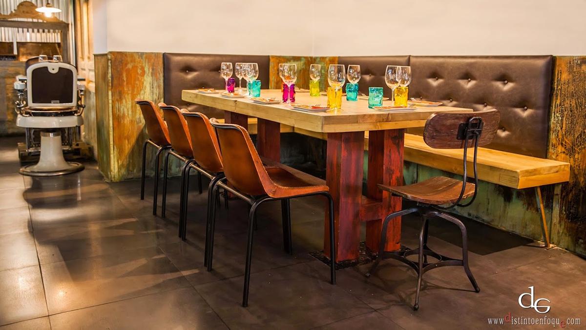 Imágenes de la reforma en bar restaurante La Central.