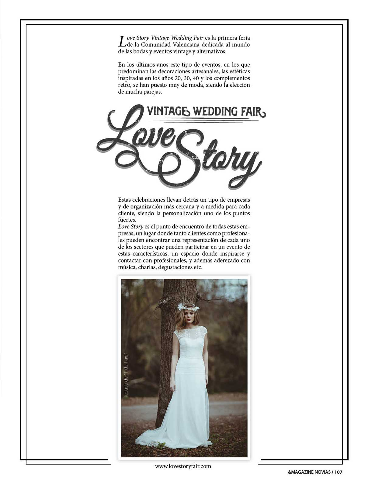 """Love Story Vintage Wedding Fair"" en And Magazine Novias."