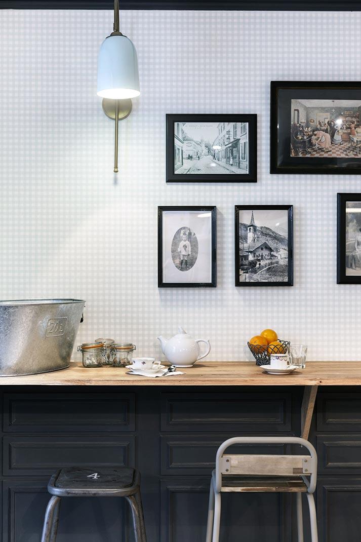 Imágenes de la decoración de interiores vintage en restaurantes.