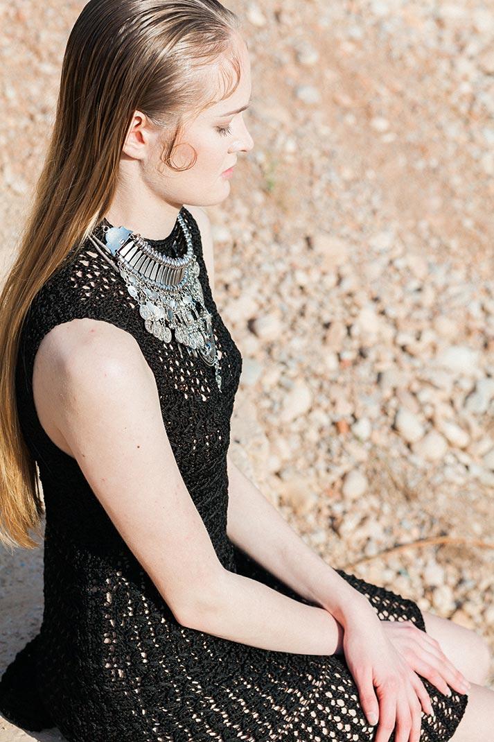 Fotos promocionales de la colección de moda de Patricia Adam.