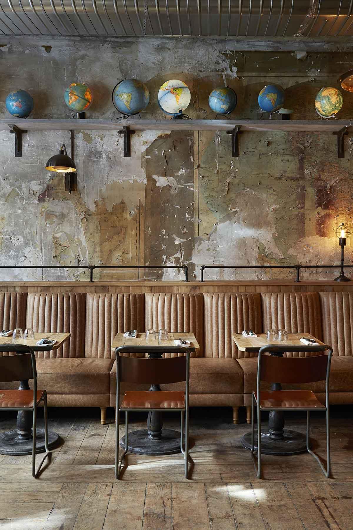 Decoraci n industrial para restaurantes italianos - Decoracion forja pared ...