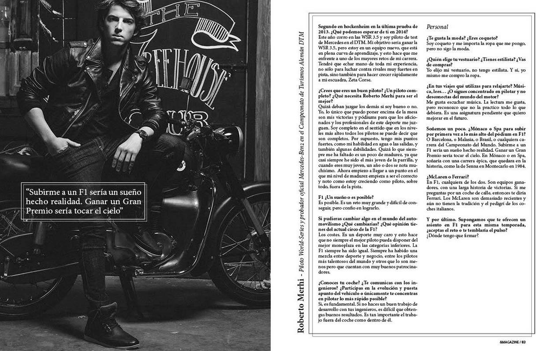 Fotos. Entrevista Roberto Merhi para &Magazine #4.