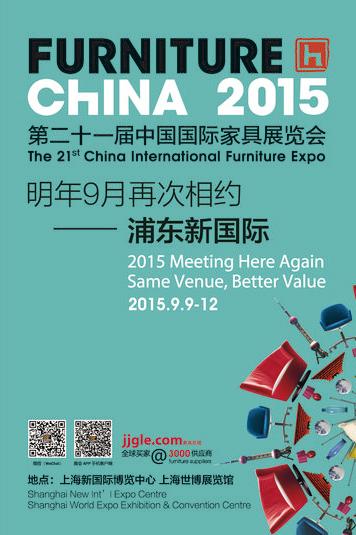 Francisco Segarra en la exposición del mueble de China.