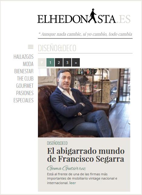 Noticias Francisco Segarra en magazine ElHedonista.