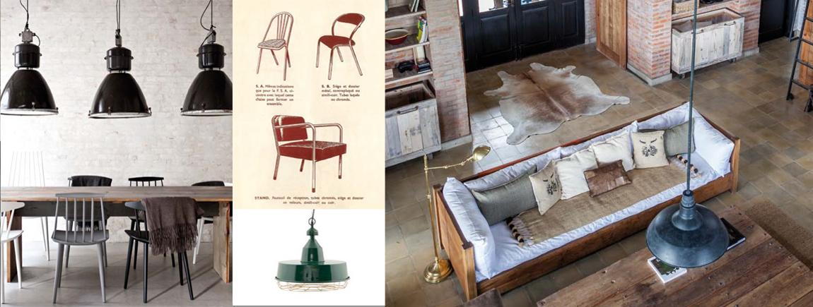 Interiores vintage de estilo industrial.