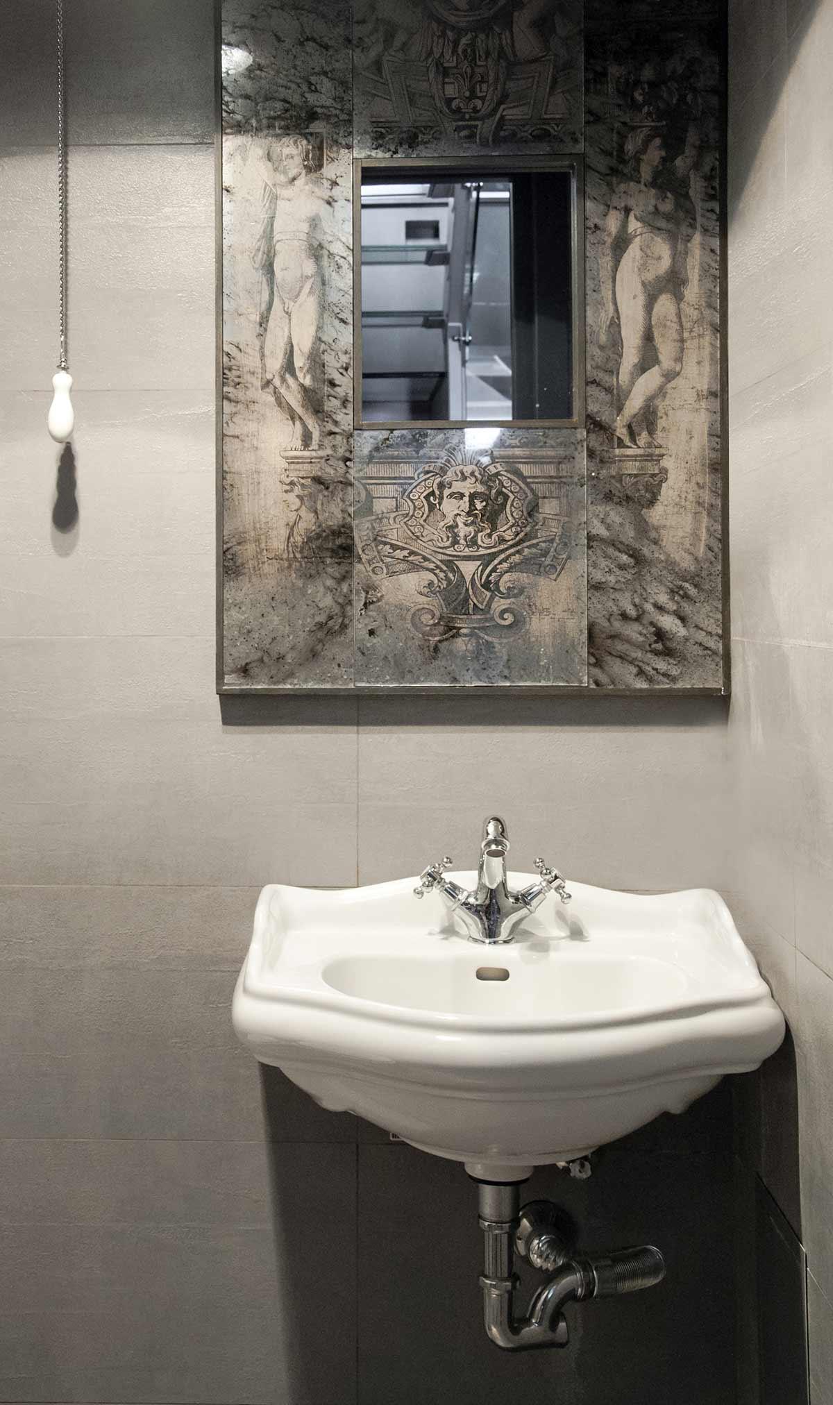 Decoración de baños públicos en restaurantes.