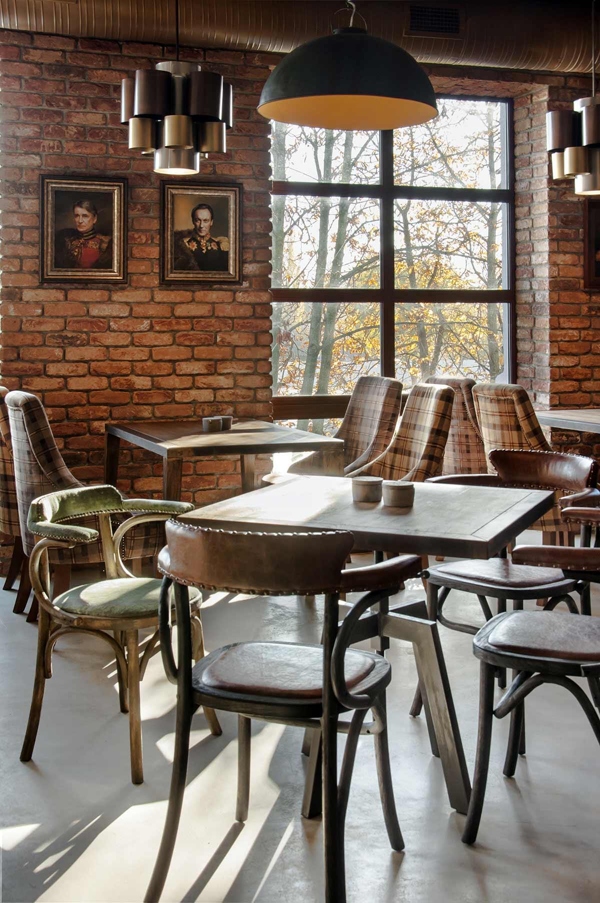 Decoraci n de restaurantes de est tica loft con muebles fs for Mobiliario de restaurante