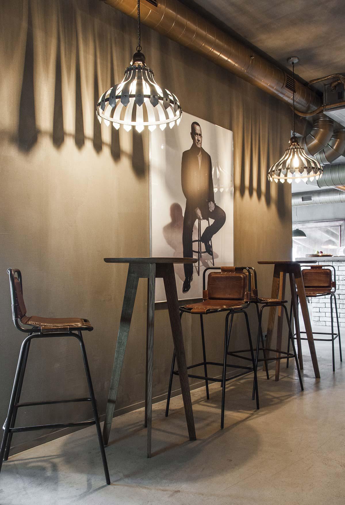 Decoración de restaurantes de estética loft.