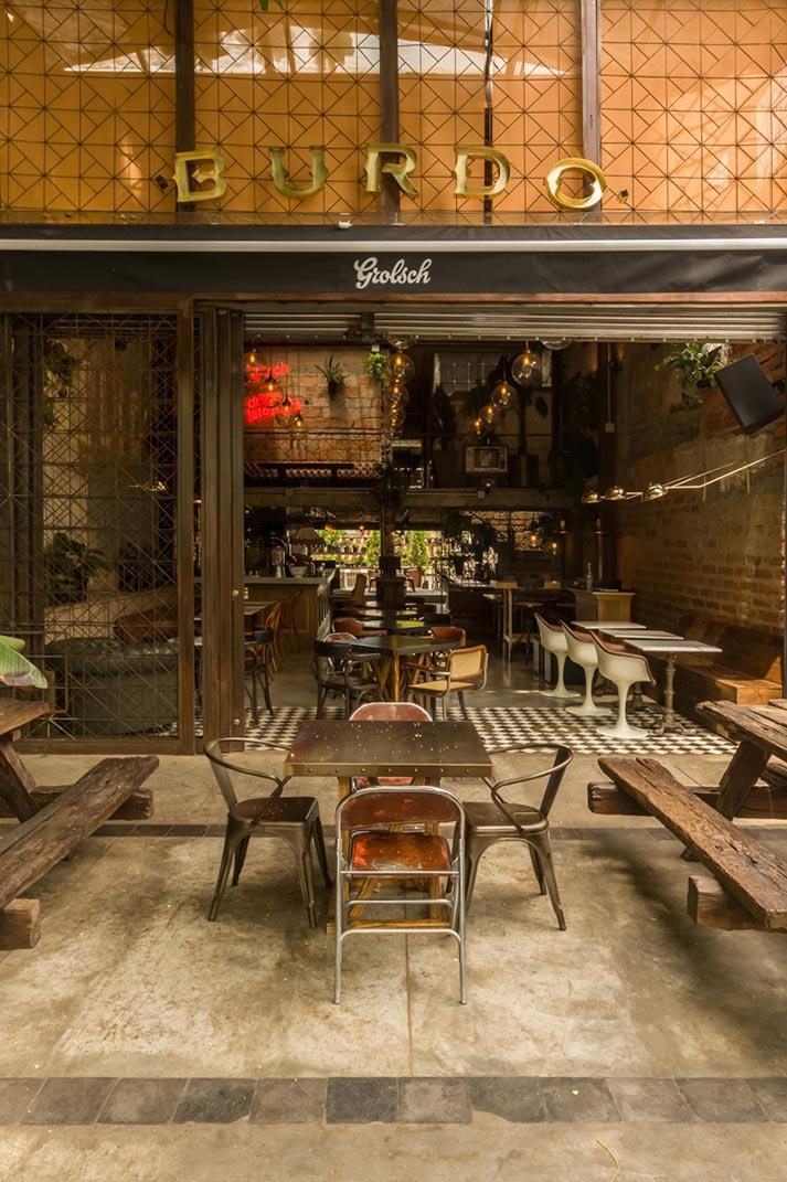BURDO. Proyecto interiorismo hostelería en Colombia.