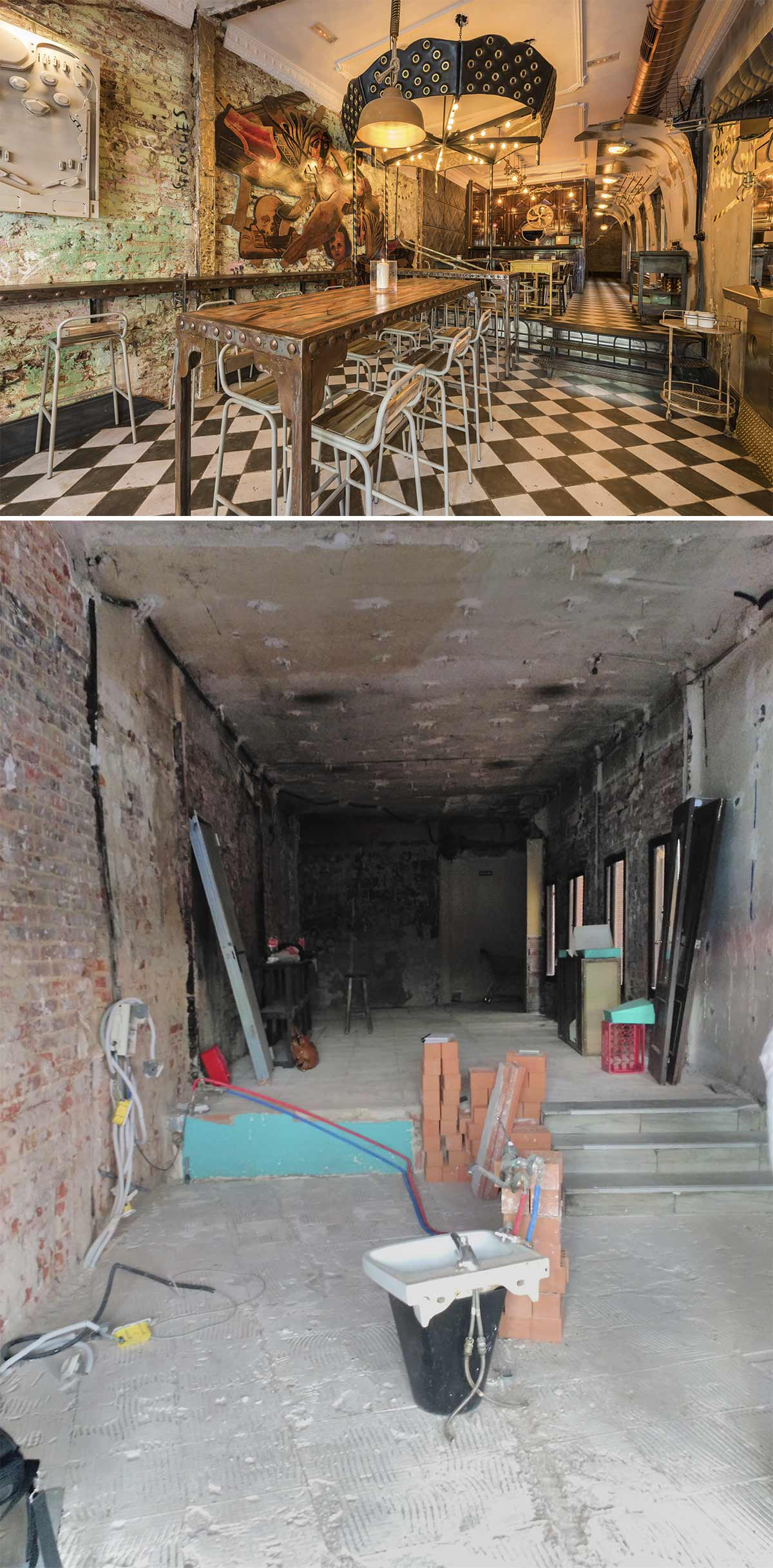 Antes y después... en el interiorismo y reformas de espacios comerciales.