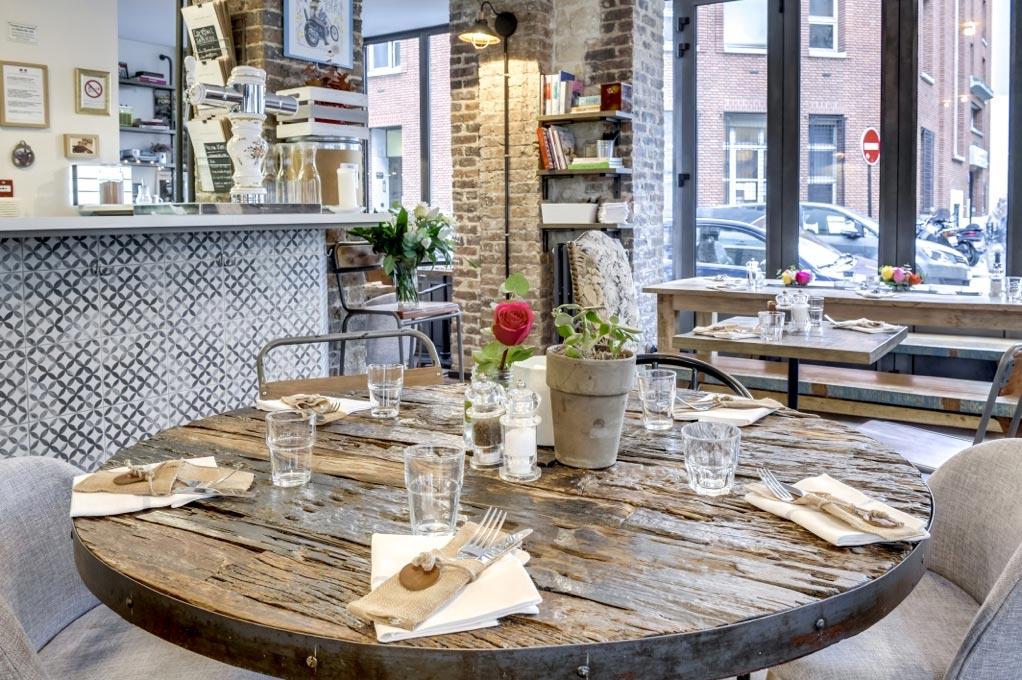 Mesas para el diseño de restaurantes.