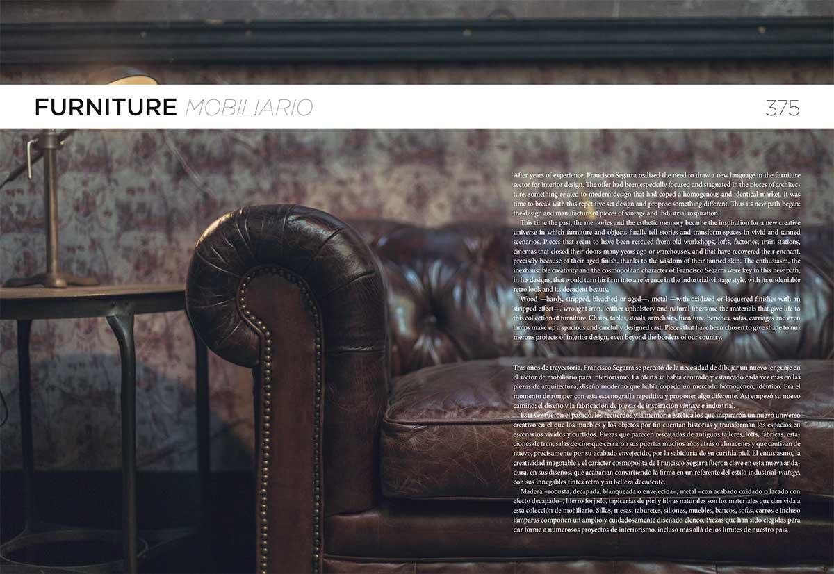 Libros de mobiliario vintage. New Furniture & Interior Design Vintage. Francisco Segarra.